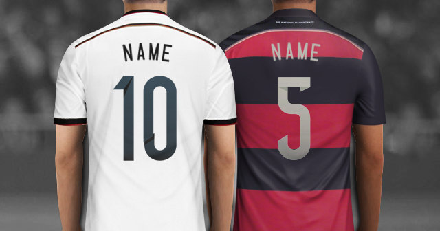 Create Your Own Personalized Germany Soccer Jersey With