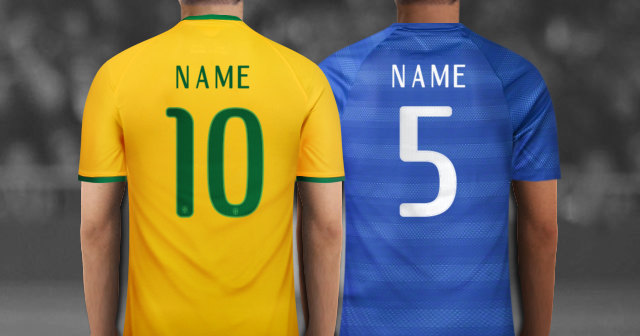 Create Your Own Personalized Brazil Soccer Jersey With