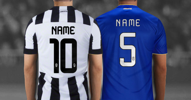 Create Your Own Personalized Juventus FC Soccer Jersey