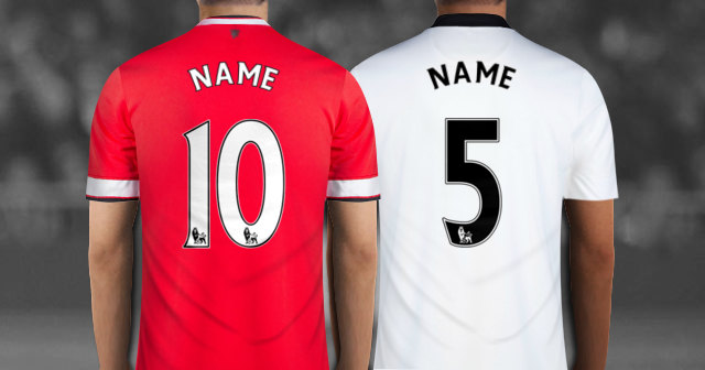 Create Manchester United Soccer Jersey With Your Name And