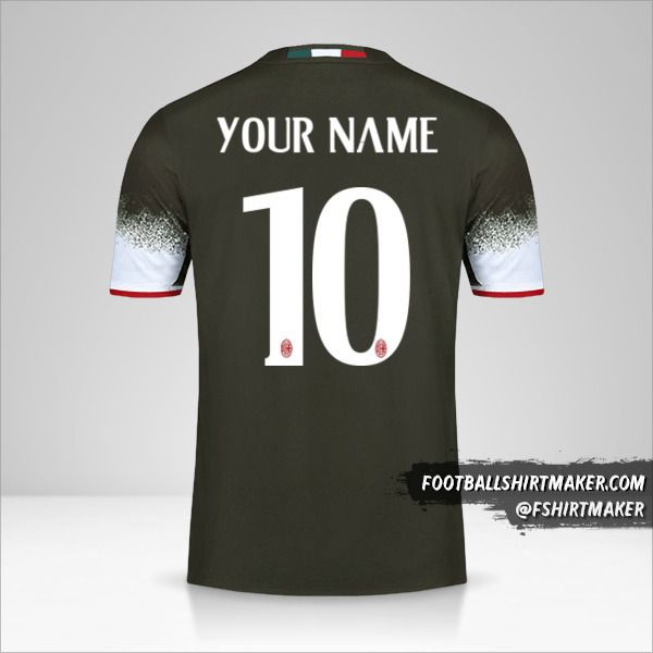 AC Milan 2016/17 III jersey number 10 your name