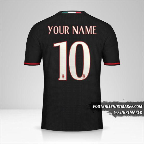 AC Milan 2016/17 jersey number 10 your name