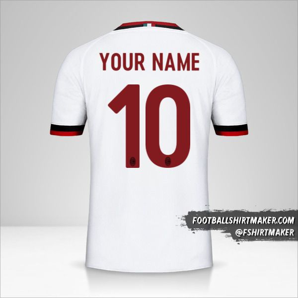 AC Milan 2017/18 II jersey number 10 your name