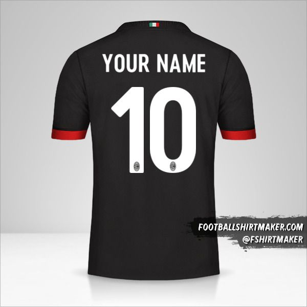 AC Milan 2017/18 III jersey number 10 your name