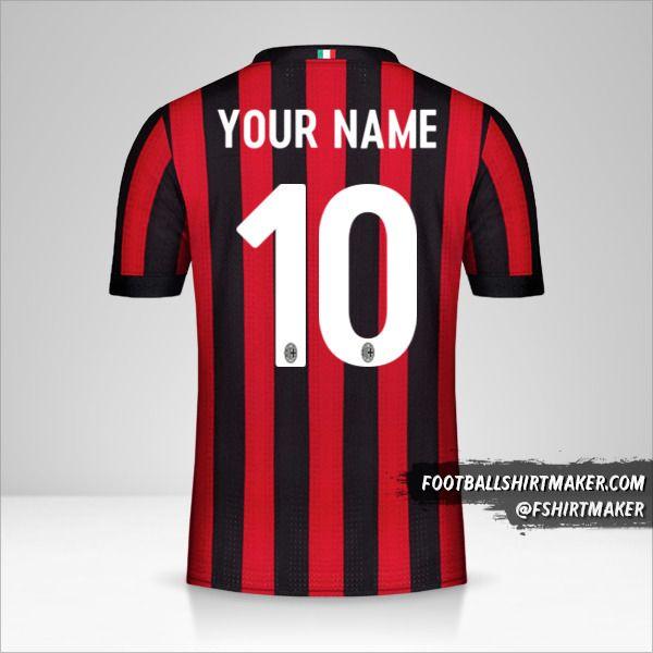 AC Milan 2017/18 jersey number 10 your name