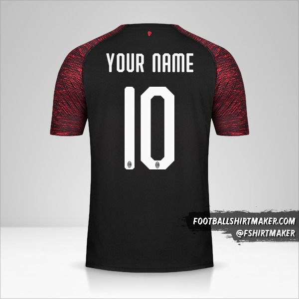 AC Milan 2018/19 III jersey number 10 your name