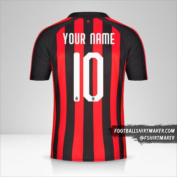 AC Milan 2018/19 jersey number 10 your name
