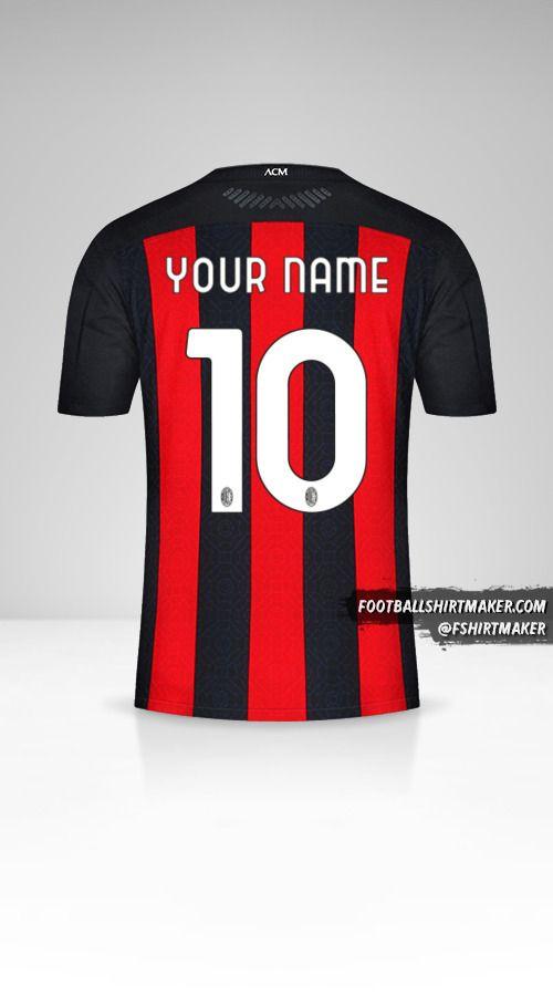 AC Milan 2020/21 jersey number 10 your name