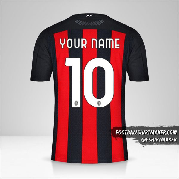 Make Ac Milan 2020 21 Custom Jersey With Your Name