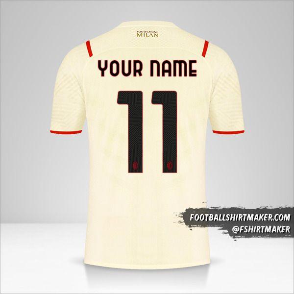AC Milan 2021/2022 II jersey number 11 your name