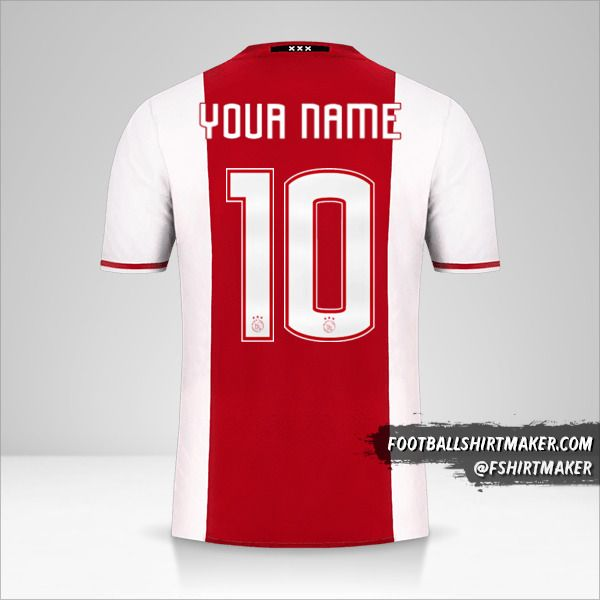 AFC Ajax 2016/17 jersey number 10 your name