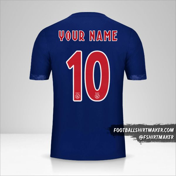 AFC Ajax 2017/18 II jersey number 10 your name