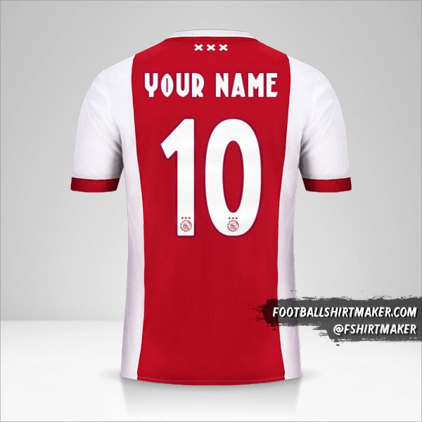 AFC Ajax 2017/18 jersey number 10 your name