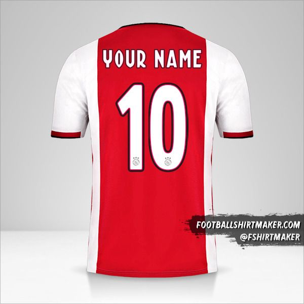 AFC Ajax 2019/20 jersey number 10 your name
