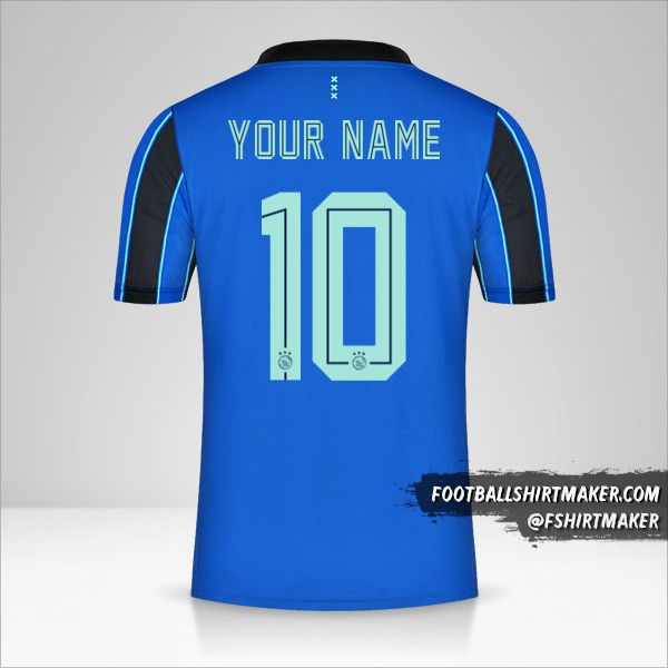 AFC Ajax 2021/2022 II jersey number 10 your name
