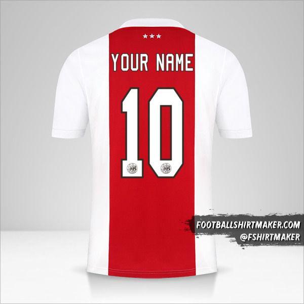 AFC Ajax 2021/2022 jersey number 10 your name