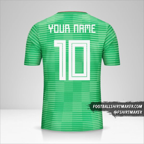 Algeria 2018 II jersey number 10 your name