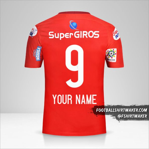 America de Cali 2017 jersey number 9 your name