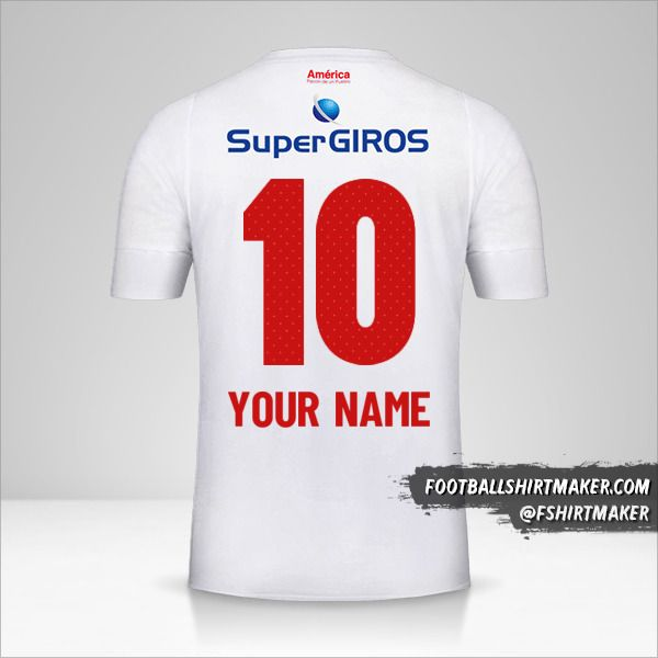 America de Cali 2019/20 II jersey number 10 your name