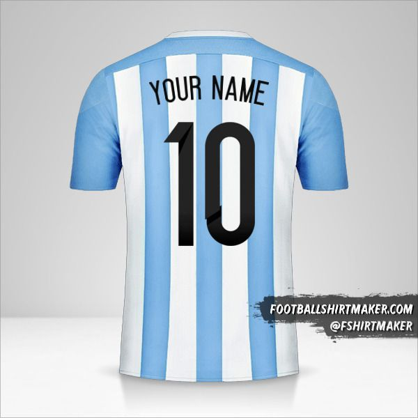Argentina 2015 jersey number 10 your name