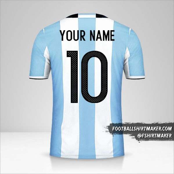 Argentina 2016 jersey number 10 your name