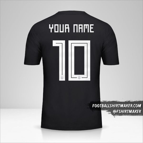 Argentina 2018 II jersey number 10 your name