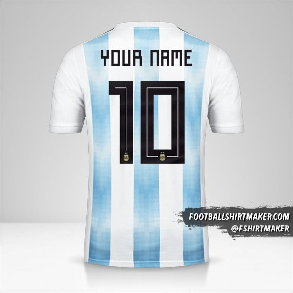 Argentina 2018 jersey number 10 your name