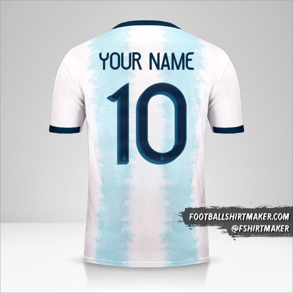 Argentina 2019/20 jersey number 10 your name