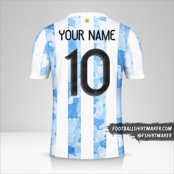 Argentina 2021 jersey number 10 your name