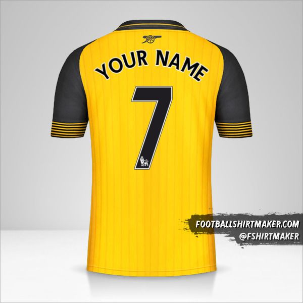 Arsenal 2016/17 II jersey number 7 your name