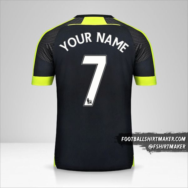 Arsenal 2016/17 III jersey number 7 your name