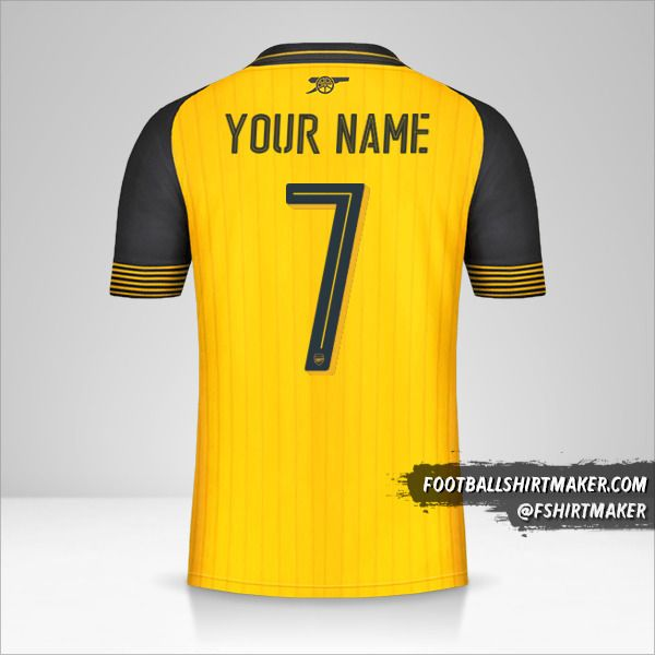 Arsenal 2016/17 Cup II jersey number 7 your name