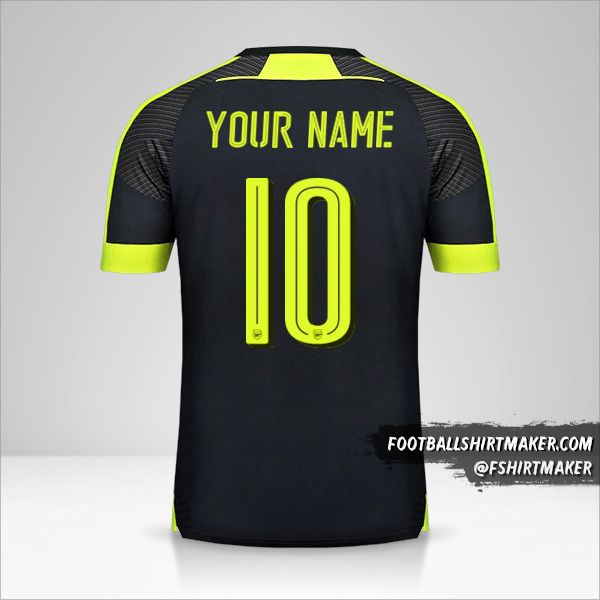 Arsenal 2016/17 Cup III jersey number 10 your name