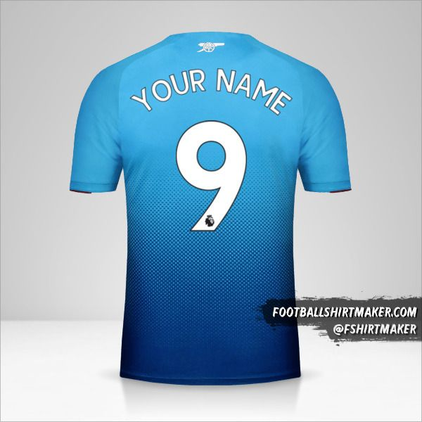 Arsenal 2017/18 II jersey number 9 your name