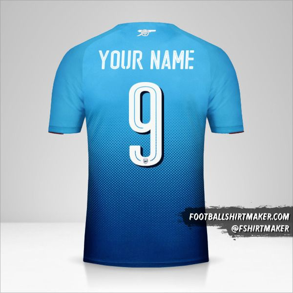 Arsenal 2017/18 Cup II jersey number 9 your name