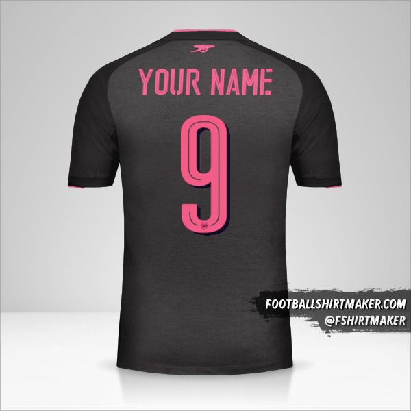 Arsenal 2017/18 Cup III jersey number 9 your name