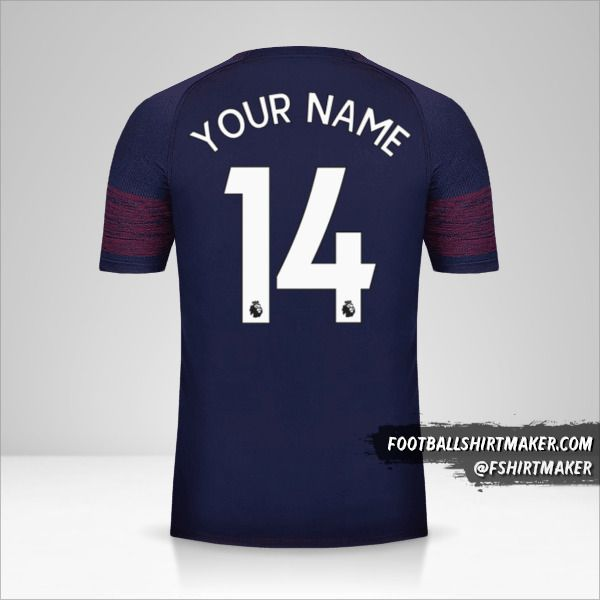 Arsenal 2018/19 II jersey number 14 your name