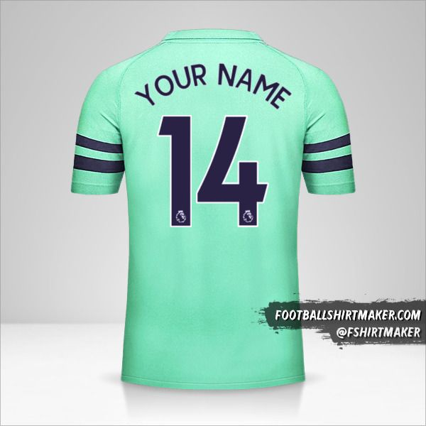 Arsenal 2018/19 III jersey number 14 your name