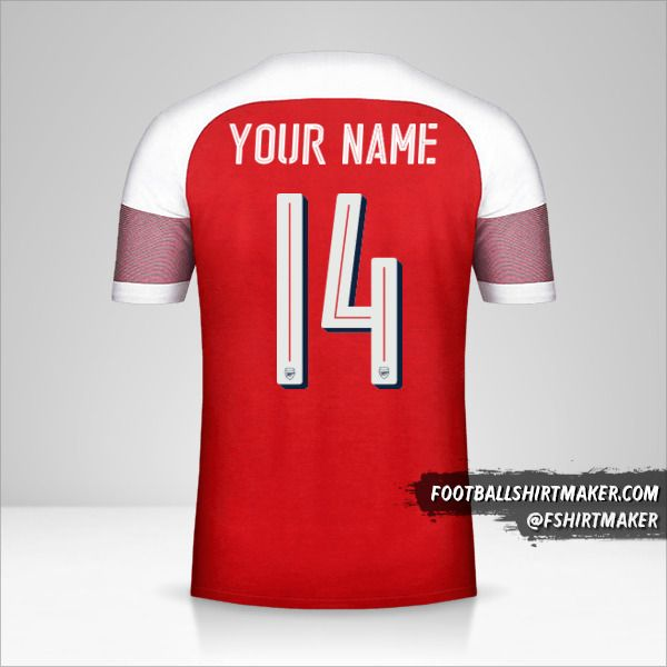 Arsenal 2018/19 Cup jersey number 14 your name