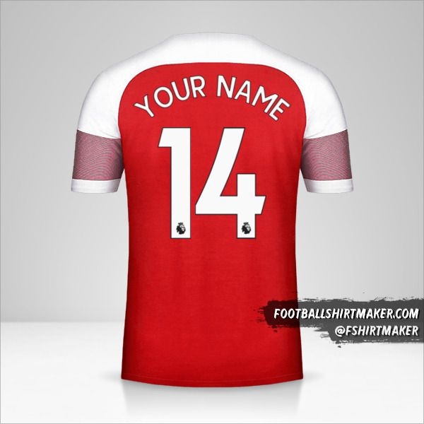 Arsenal 2018/19 jersey number 14 your name