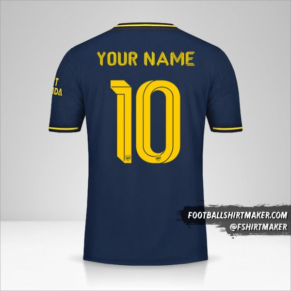 Arsenal 2019/20 Cup III jersey number 10 your name