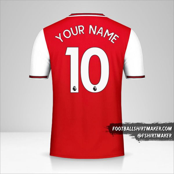 Arsenal 2019/20 jersey number 10 your name
