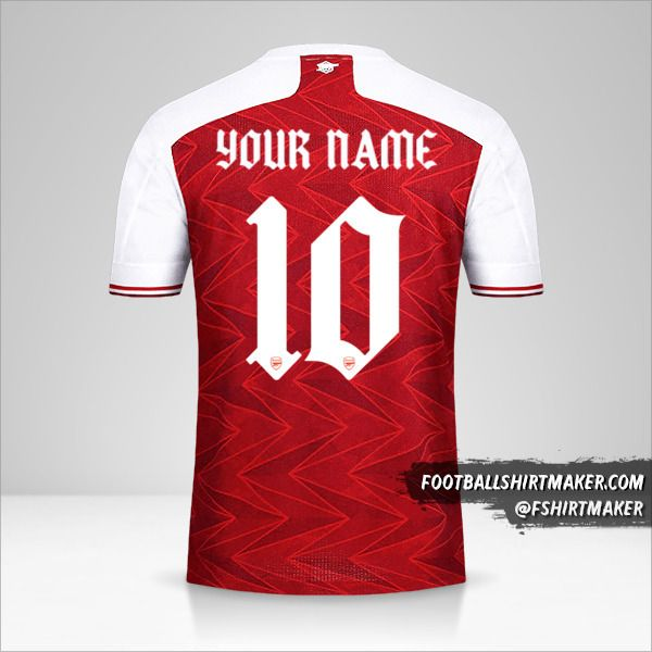 Arsenal 2020/21 Cup jersey number 10 your name