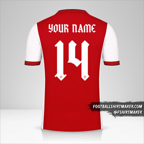Arsenal 2021/2022 Cup jersey number 14 your name