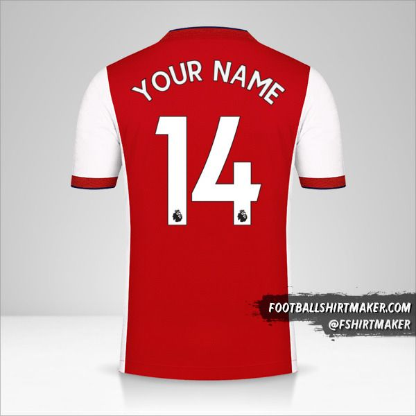 Arsenal 2021/2022 jersey number 14 your name