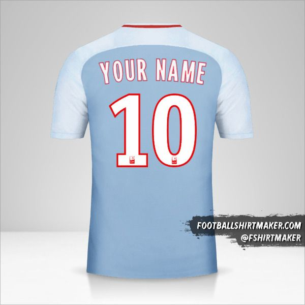 As Monaco 2017/18 II jersey number 10 your name