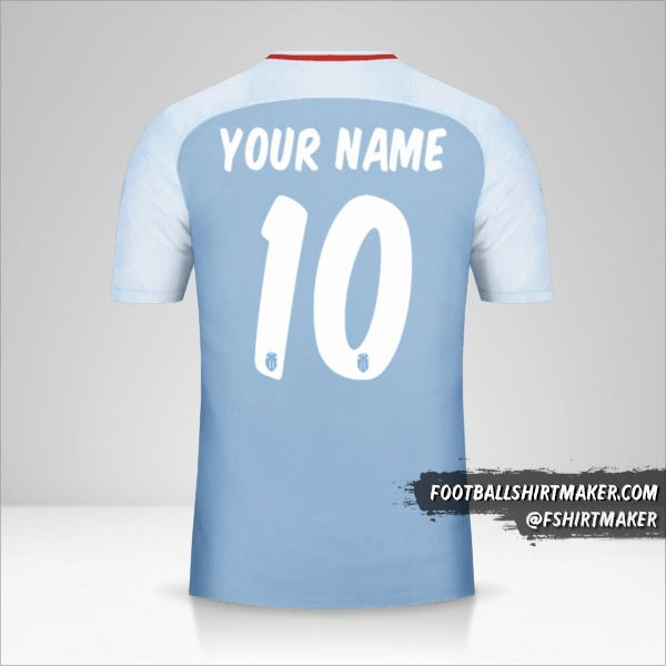 As Monaco 2017/18 Cup II jersey number 10 your name