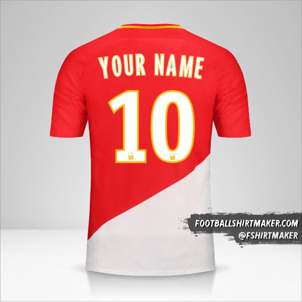 As Monaco 2017/18 jersey number 10 your name