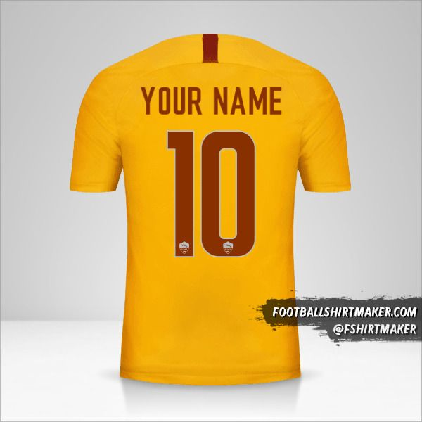 AS Roma 2018/19 III jersey number 10 your name