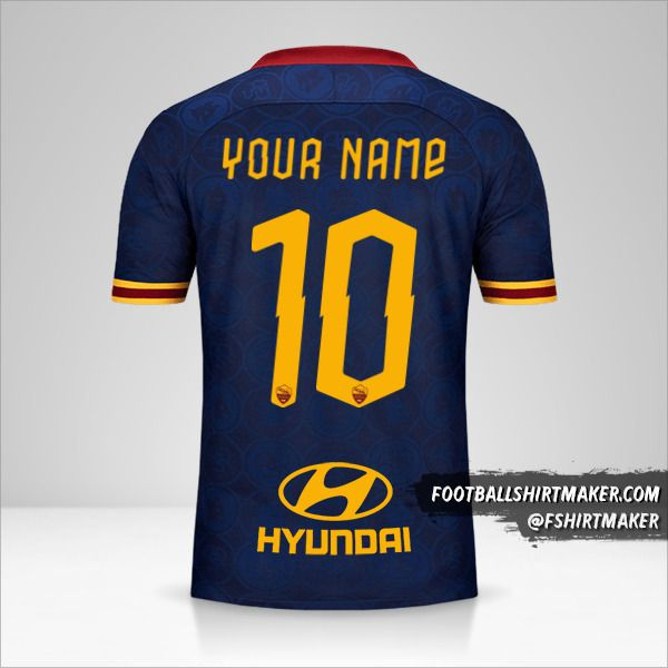 AS Roma 2019/20 III jersey number 10 your name